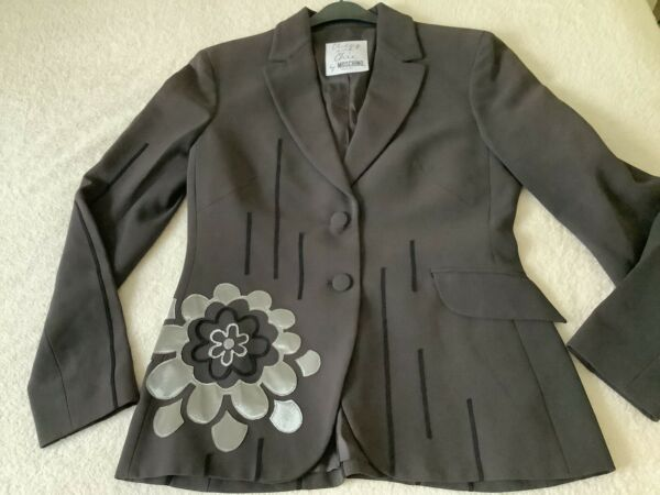 Moschino Jacket Exclusive Blazer Cheap And Chic Range With Motif Size 12 GBP 65.00