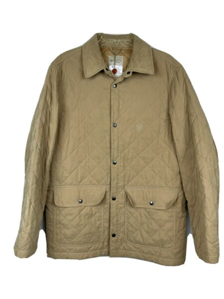 Beretta Classic Country Quilted Coat Tan Thermore Insulated Jacket Italy Mens L $139.99