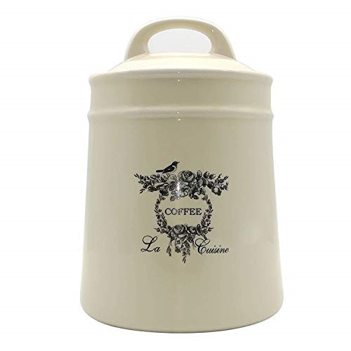 Lonovel Ceramic Coffee Canister JarsAirtight Coffee Storage Container with Food