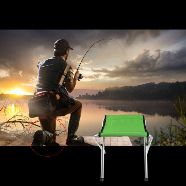 2PCS Outdoor Indoor Portable Beach Fishing Stool Picnic Seat Mini Folding Chairs