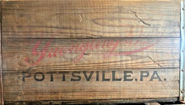 Vintage Antique Wooden Yuengling amp; Son Beer Crate 4457 REDUCED