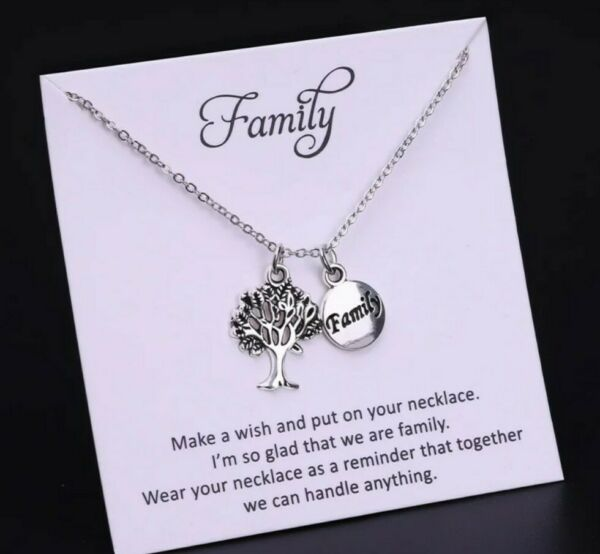 Family Tree Necklace silver necklace Mum Sister nan Birthday Christmas 162