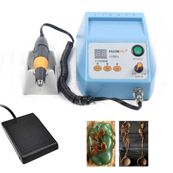 Electric Jewelry Jade Grinding Carving Polishing Machine W Handpiece 50000rpm $132.06