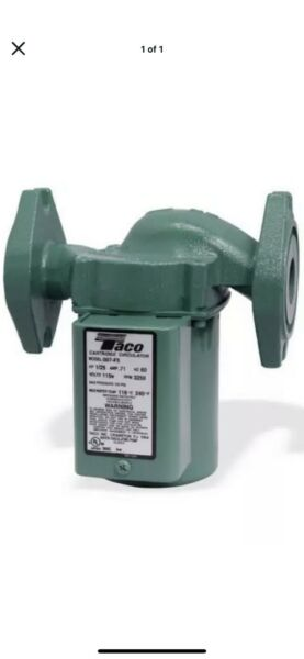 Central Boiler Outdoor Furnace Taco 007 HBF5 J Bronze Cartridge Circulator Pump $100.00