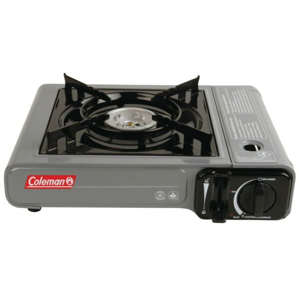 Coleman Tabletop Butane Gas Camping Stove 1 Burner Gray Outdoor cooking