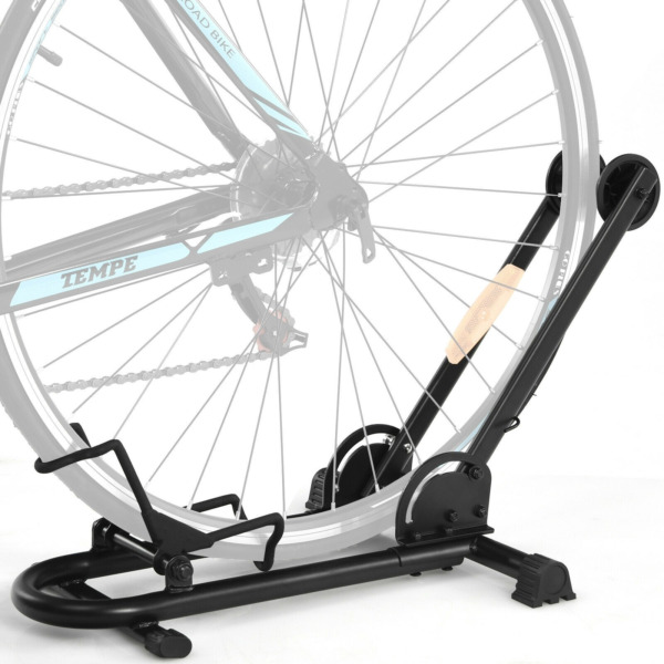NEW Foldable Bike Floor Parking Rack Home Garage Storage Stand Fit 20quot; 29quot; Bikes $41.99