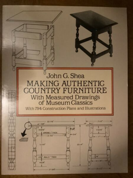 Dover Woodworking : Making Authentic Country Furniture : With Measured Drawings $28.00