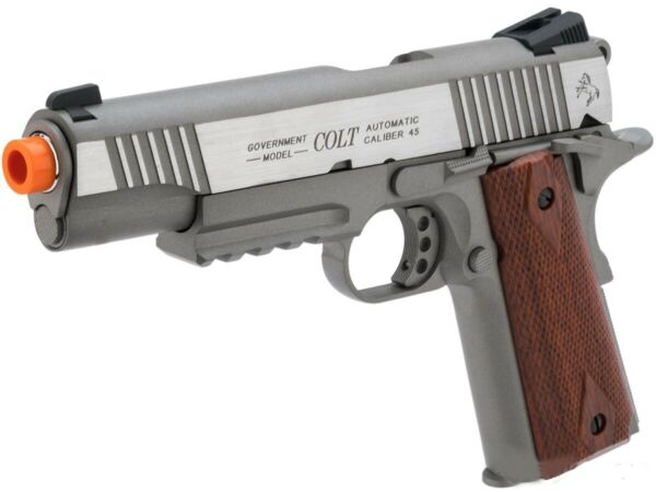 CO2 gas blowback 1911 Colt Licensed tactical Full Metal Airsoft Pistol by KWC