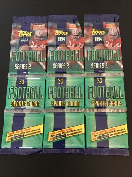 1994 topps football series Two Faulk Rookie? 3 Rack packs 2 Specials $20.00