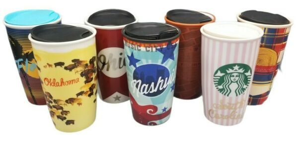 Starbucks 2016 12 oz Ceramic Choose States Cities Travel Tumbler Limited Edition
