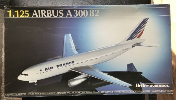 Heller 1.125 scale Air France Airliner Airbus A300B2 #80446