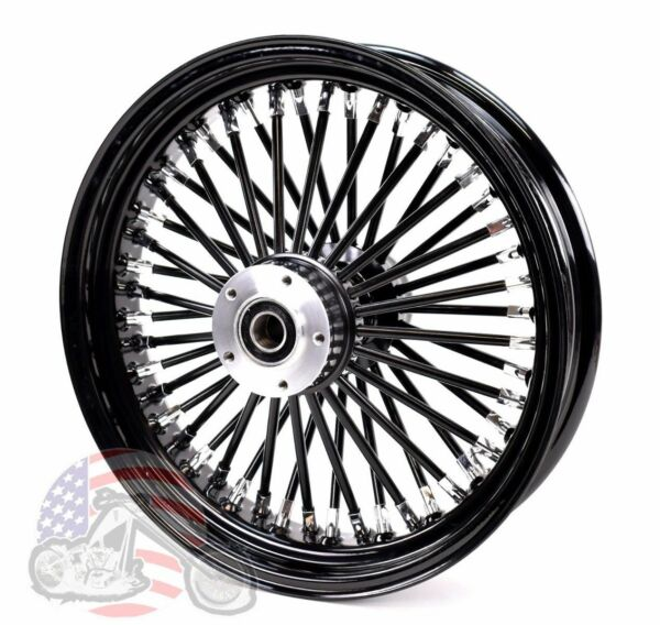 16 x 3.5 Black Out 46 Fat King Spoke Rear Wheel Rim Harley Touring Softail Dyna $259.99