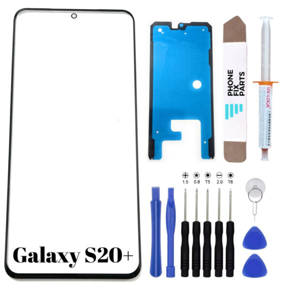 For Samsung Galaxy S20 Plus Front Glass Replacement Screen UV Glue Tools Kit
