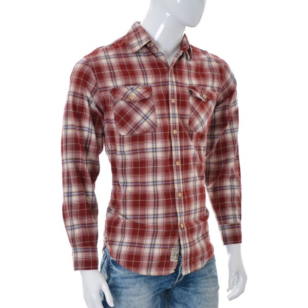Timberland for Mens Casual Button Down Long Sleeve Shirt Multi Plaid Tops Size M $29.62