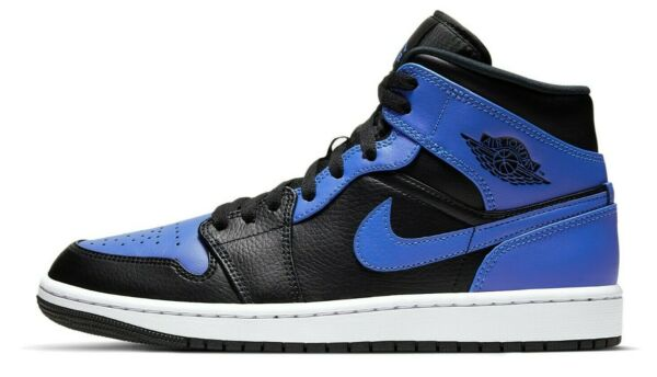 Air Jordan 1 Hyper Royal Retro Mid Black Blue 554724 077