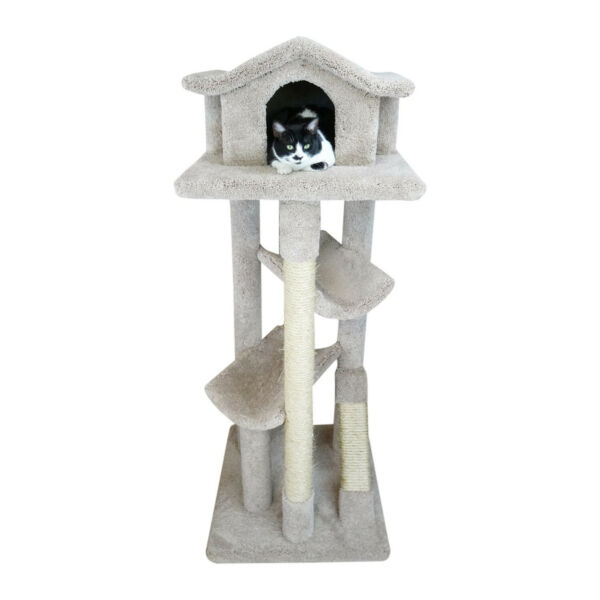 New Cat Condos Solid Wood Large Cat Pagoda House