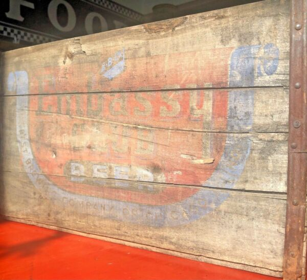 Vintage Antique Wooden Embassy Club Beer Crate 4488 REDUCED