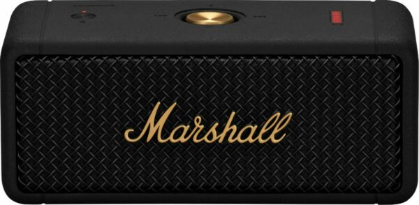 New Marshall Emberton Portable Bluetooth Speaker Black Brass