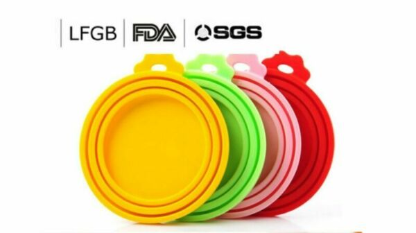 4PCS of Pet Food Can Cover Silicone Reusable Cap Can Lids for Dog and Cat Food $6.36