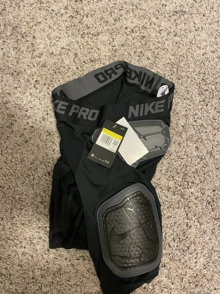 Nike Sport Hyperstrong Short Football Girdle Black Men#x27;s Size Small