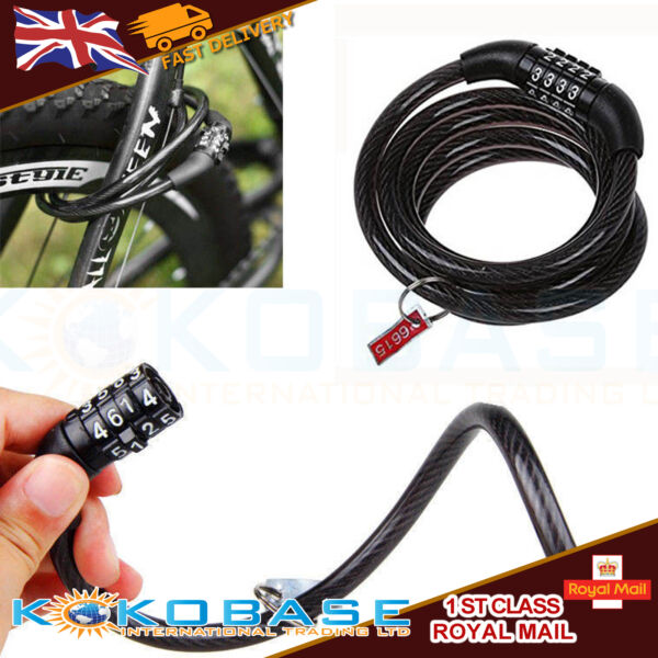 Combination Bike Lock Strong Heavy Duty Cycle Security Bicycle Locks Outdoor GBP 4.88