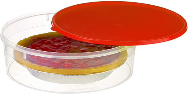 "Zilpoo Plastic Pie Keeper with Lid 10.5"" Christmas Cupcake Carrier Muffin"