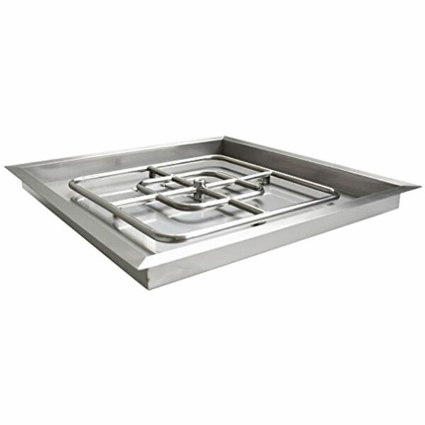 Stainless Steel Burner Square Fire Pit Burner Pan 36 inch