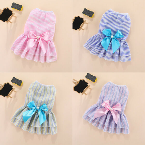 Pet Puppy Small Dog Lace Princess Tutu Dress Skirt Clothes Apparel Costume Cute $8.99