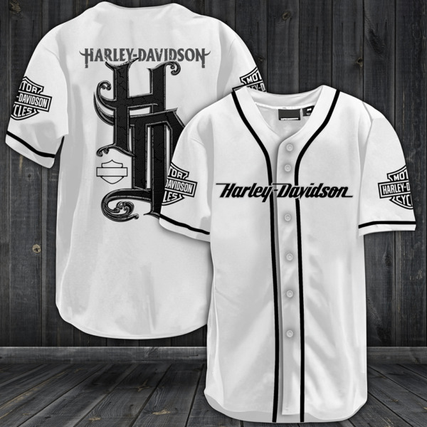 HARLEY DAVIDSON All Over Print Baseball Jersey S 5XL $26.05