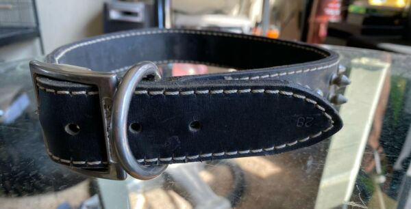 Mustang Spiked Dog Collar Leather LARGE $34.99