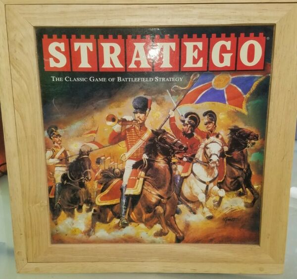 Stratego Board Game Wooden Case 100% complete Milton Bradley 2002 Family Game