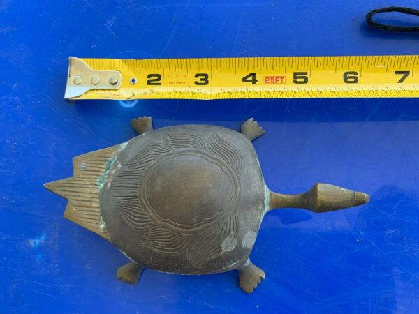 vintage brass turtle made in india
