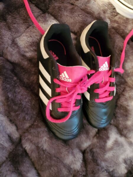 Adidas Girls Sports Toddler Cleats Size 11 $13.00