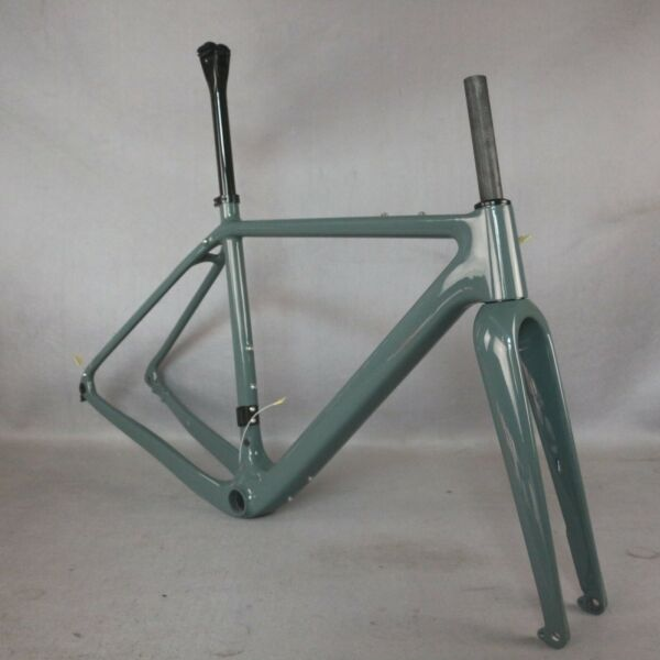 NEW All Internal cable Gravel Bike Full Carbon Frame Bicycle paint PT444C GR040 $630.00