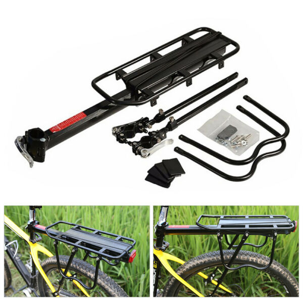 Rear Bike Rack Cargo Rack Quick Release Alloy Carrier 110 Lb Capacity $16.99