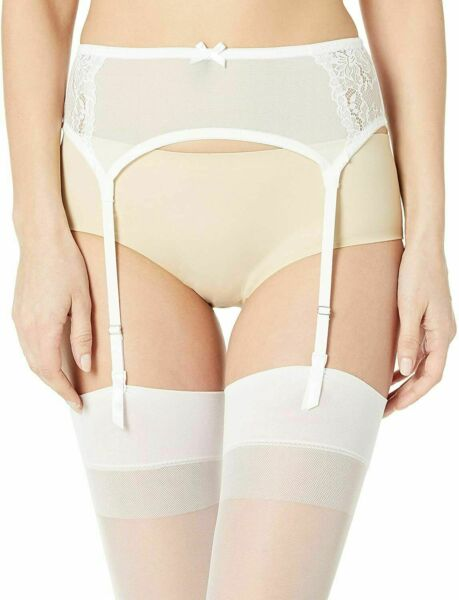 Maidenform White Garter Belt DM1124 XL NWT
