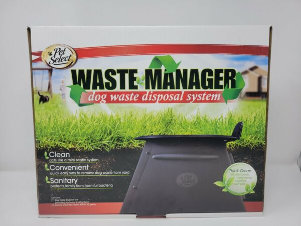 Waste Manager Dog Waste Disposal System Acts Like A Mini Septic System New $25.99