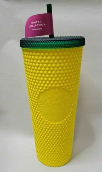 Starbucks 2020 Hawaii Collection Exclusive Pineapple Studded Tumbler 24 oz