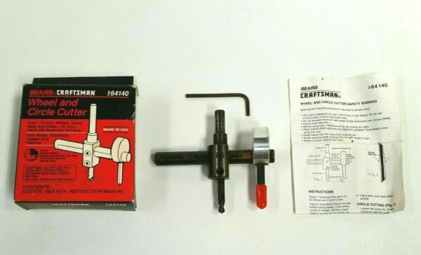 Vintage Craftsman Wheel and Circle Cutter 964140 with Box Instructions Wrench