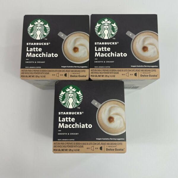 One Case STARBUCKS Latte Macchiato by Nescafe Dolce Gusto Coffee Capsules 8 20
