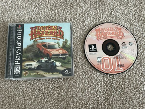 PLAYSTATION 1 PS1 THE DUKES OF HAZZARD RACING FOR HOME BLACK LABEL COMPLETE GAME