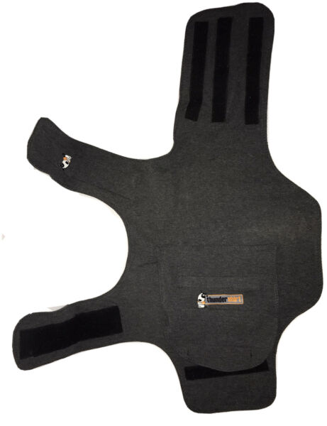 Thundershirt Dog MEDIUM 26 40 lbs Gray Solution Anxiety Thunder Fireworks Travel $12.99