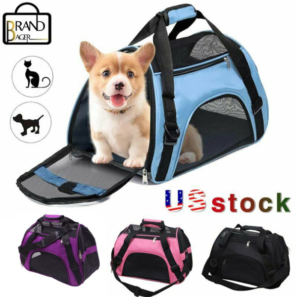 Pet Dog Cat Carrier Portable Travel Bag Soft Sided Comfort Case Puppies $18.99