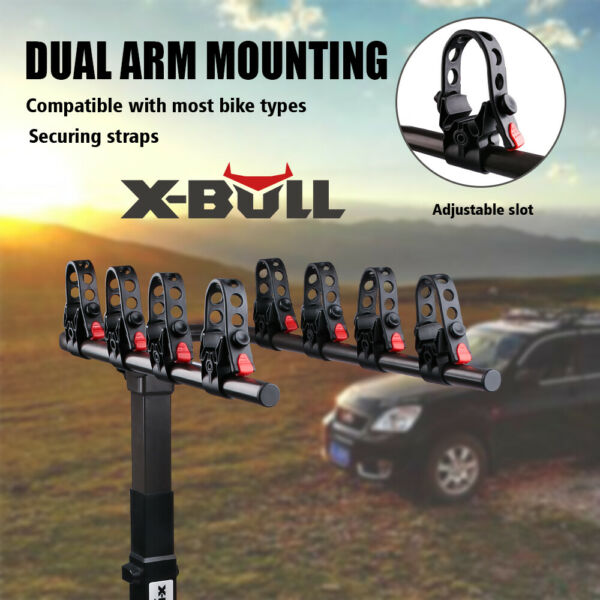 X BULL 4 Bike Carrier Rack Hitch Mount Heavy Duty Bicycle Rack 2quot; Receiver SUV $104.90