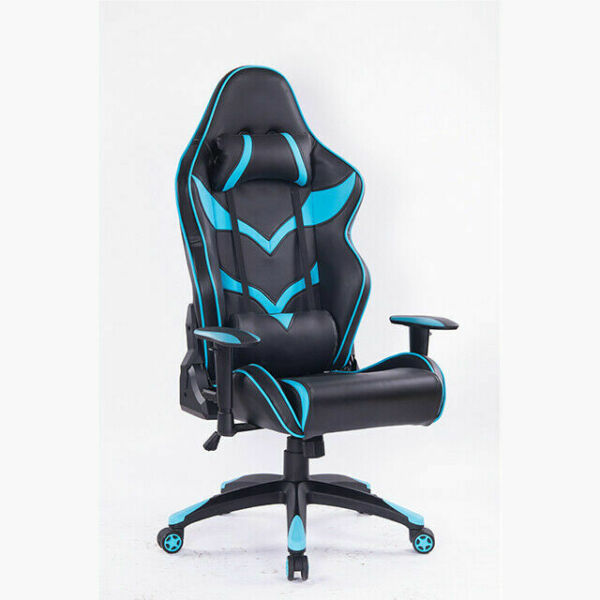 Gaming Chair Office Home Racing Leather Adjustable Black Blue Chair 50% OFF