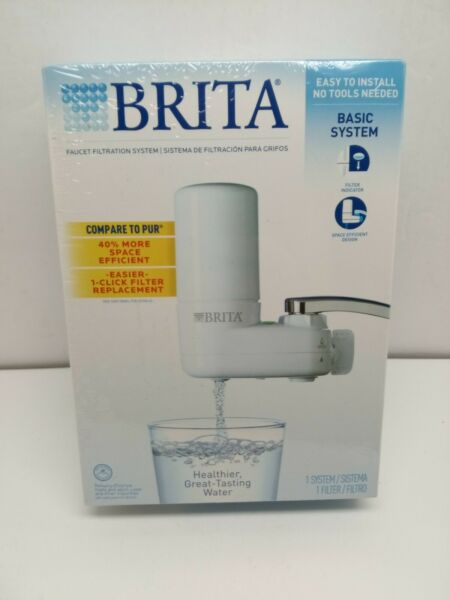 BRITA BASIC Faucet Mount Water Filtration System Filter white New SEALED