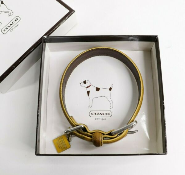COACH Charm Brown Leather Dog Collar XS 8.5quot; 10.5quot; $39.95