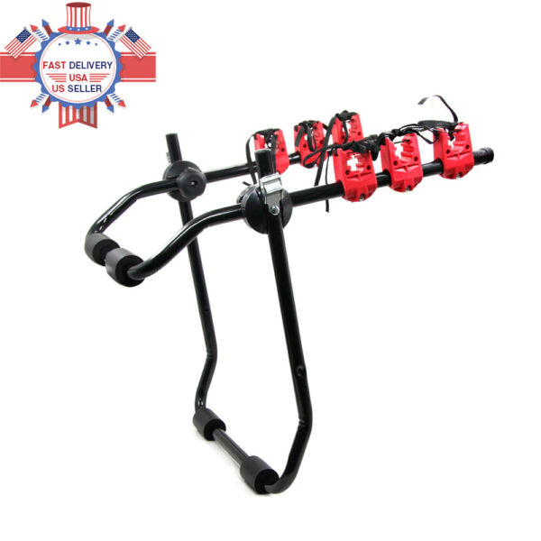 3Bike Trunk Mount Rack Bicycle Carrier Hatchback for SUV Car Truck Rack ABS New $47.49