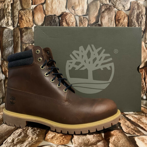 TIMBERLAND MEN'S PREMIUM 6 IN WATERPROOF BOOT MD BROWN FULL GRAIN A1QZJ Sz:13M $159.00