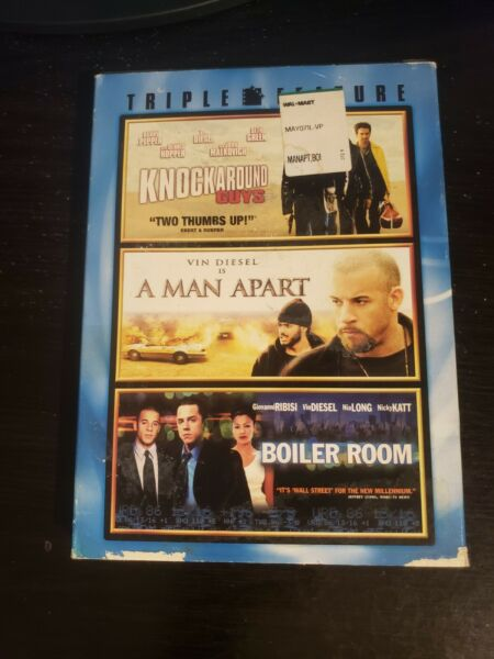TRIPLE FEATURE: KNOCKAROUND GUYS A MAN APART BOILER ROOM DVD $3.80